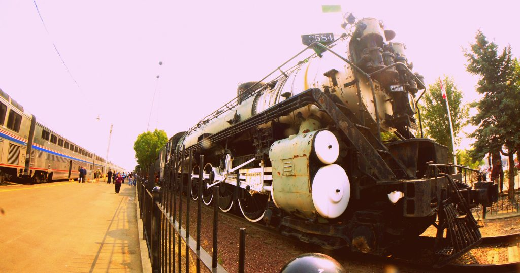 S-2 steam locomotive at the Havre train station in Montana