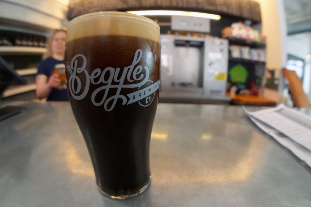 Flannel Pajamas Oatmeal Stout from Begyle Brewing Company in Chicago