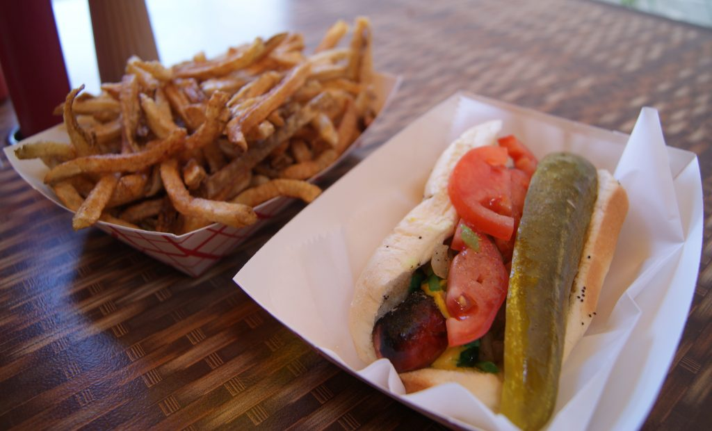 Chicago-Style Hot Dog with Duck Fat French Fries