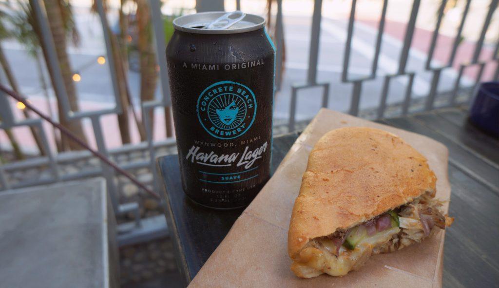 Havana Lager and Cuban Sandwich