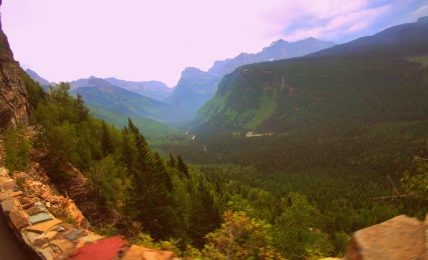 Driving the Going-To-The-Sun Road in Montana