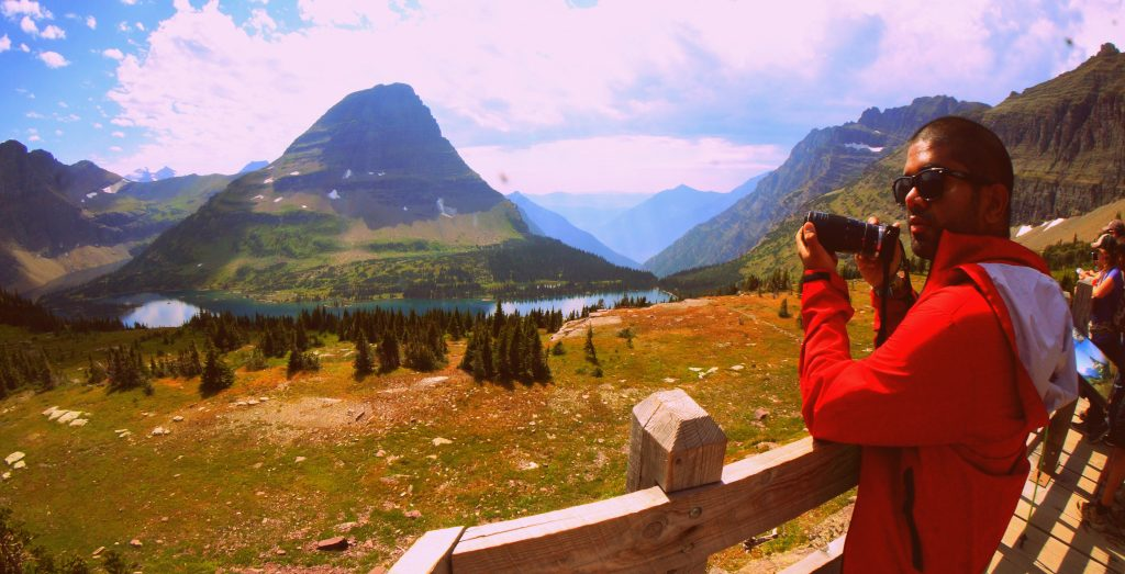 Driving the Going-To-The-Sun Road at Glacier National Park in Montana