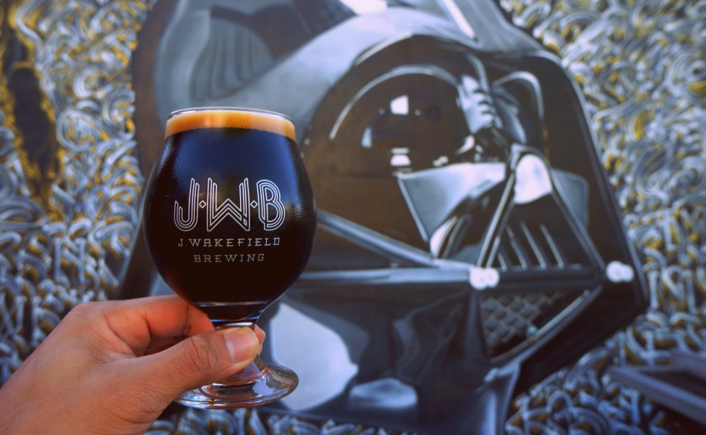 J Wakefield Imperial Stout and Darth Vader Mural