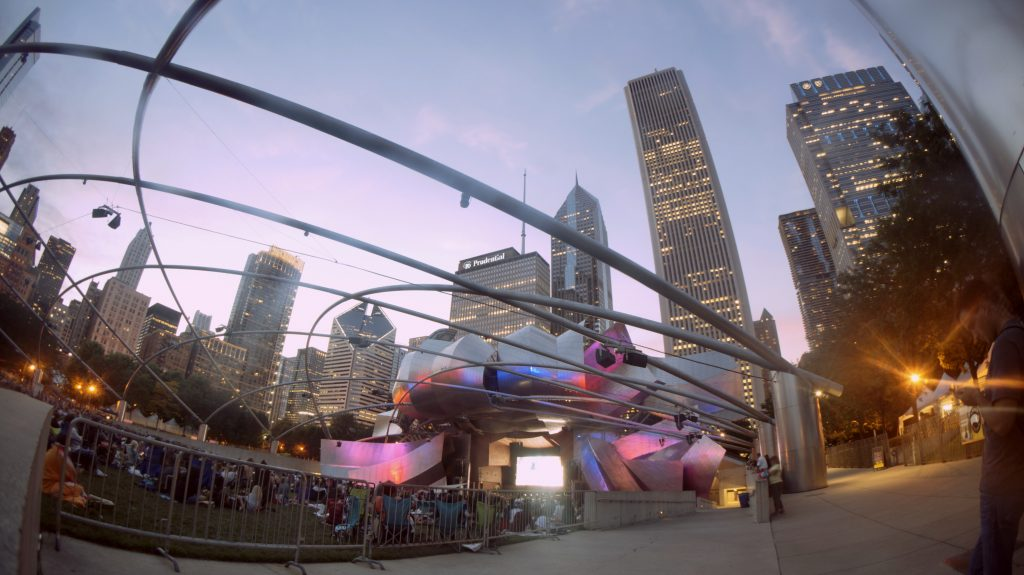 Jay Pritzker Pavilion in the Evening