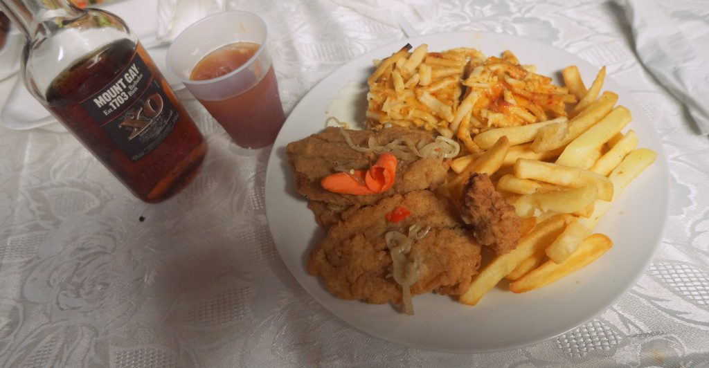 Fried Flying Fish and Barbados Rum Punch