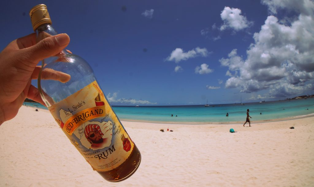 Old Brigand Rum at the Beach