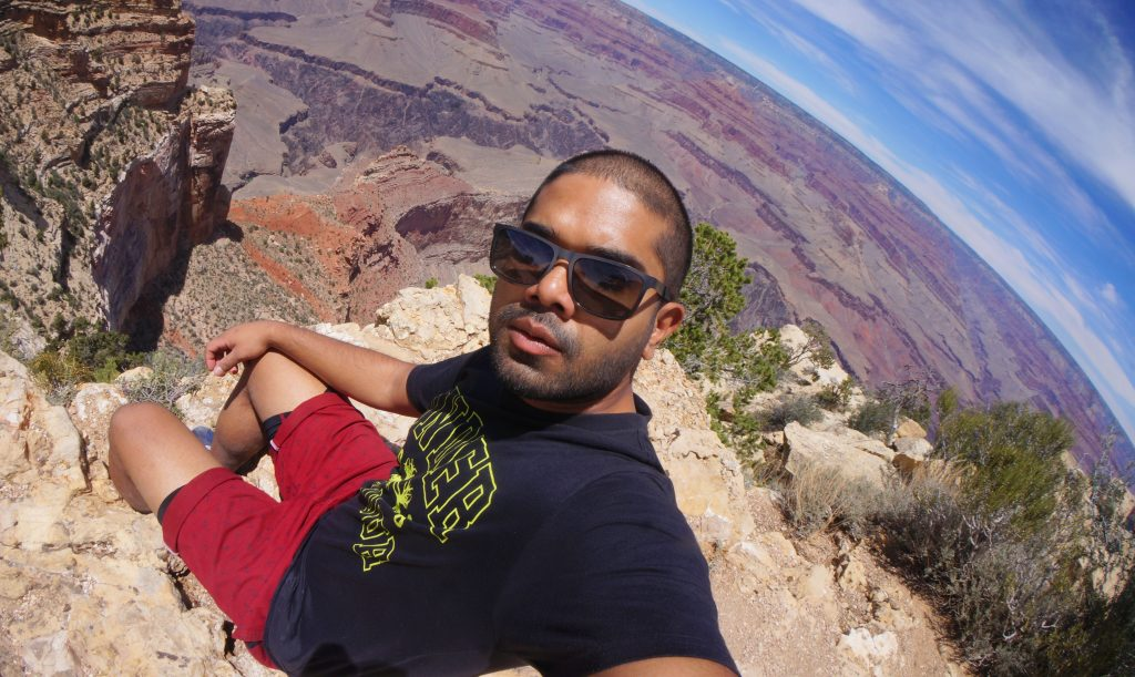 Selfie on the Edge of The Grand Canyon
