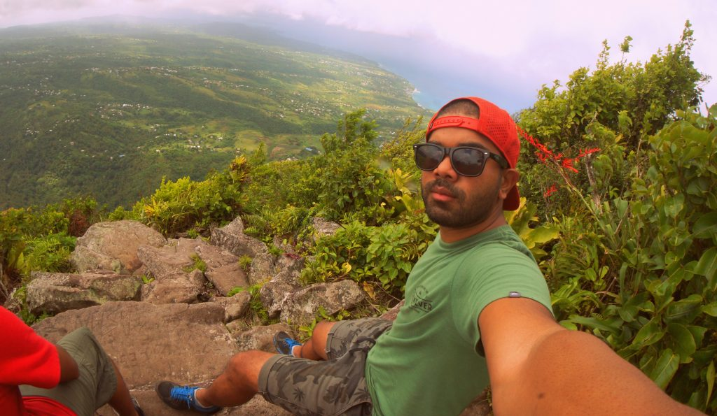 Sitting at the top of Gros Piton