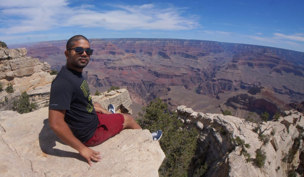 Sitting on the Rim of the Grand Canyon