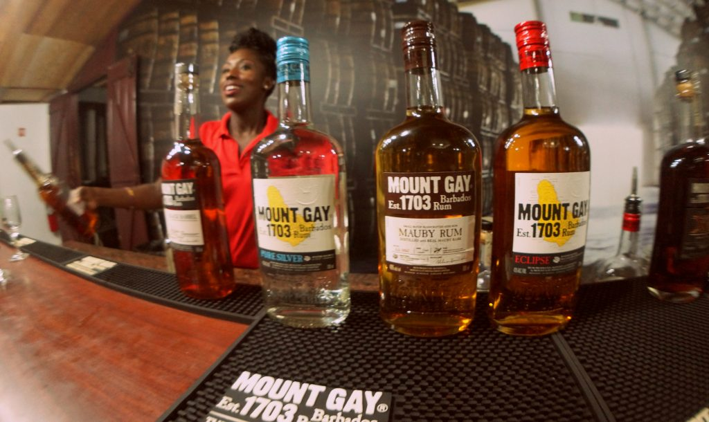 Rum tasting at the Mount Gay Visitors Center