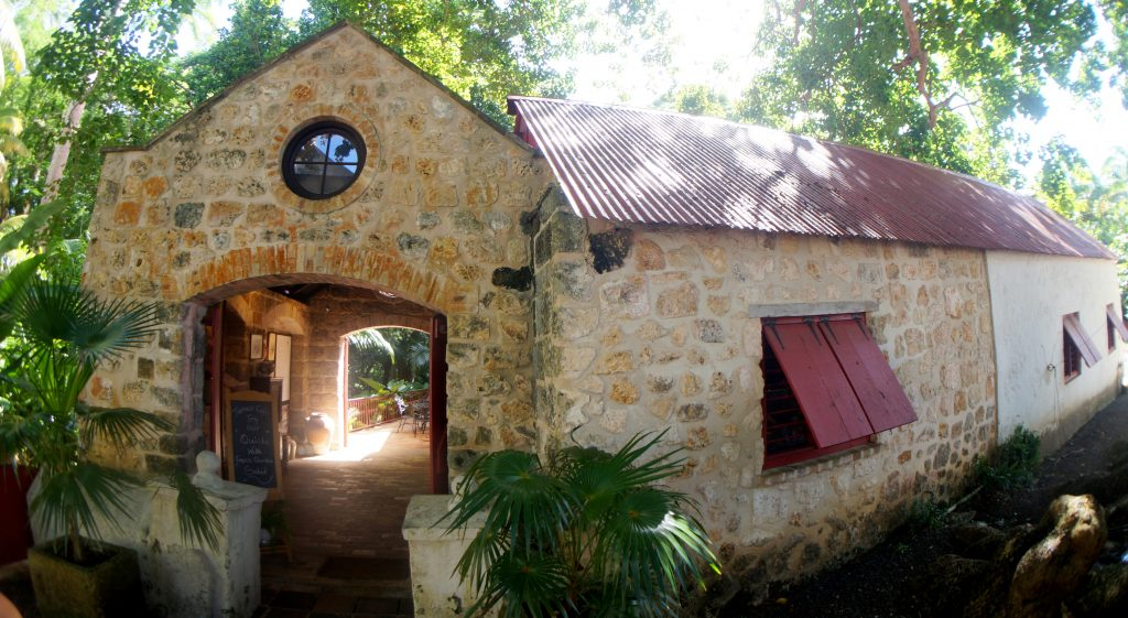 Gift shop and Cafe at Saint Nicholas Abbey in Barbados