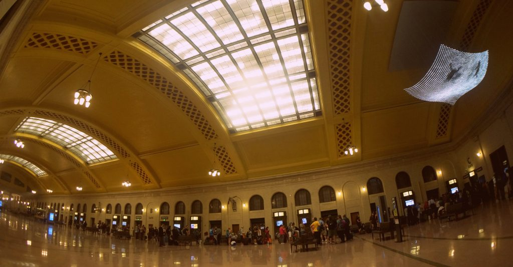 Union Depot Station at Minneapolis on the Amtrak Empire Builder route