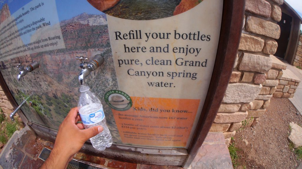 Water Refill Station at The Grand Canyon