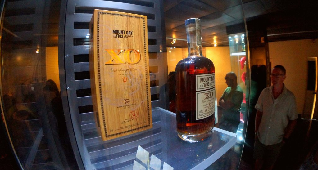 Limited Edition Mount Gay XO Cask Strength on display at the Mount Gay Visitors Center