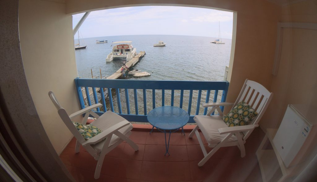 Hotel room view of the Ocean in Dominica